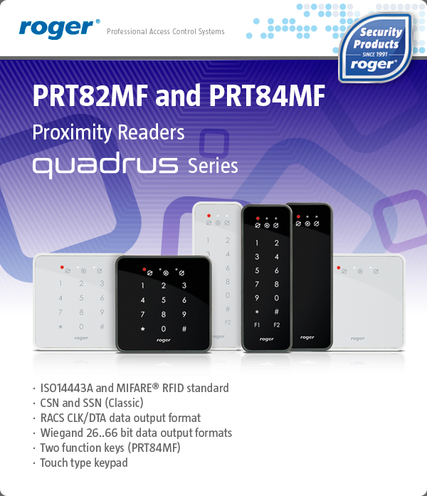 PRT82MF and PRT84MF - QUADRUS Series Proximity Readers