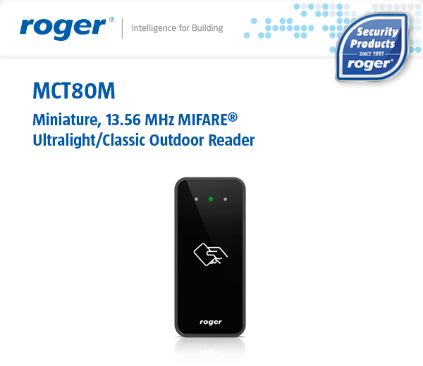 MCT80M - Miniature, MIFARE Outdoor Reader