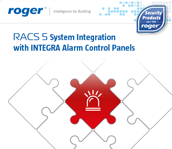 RACS 5 System Integration with INTEGRA Alarm Control Panels