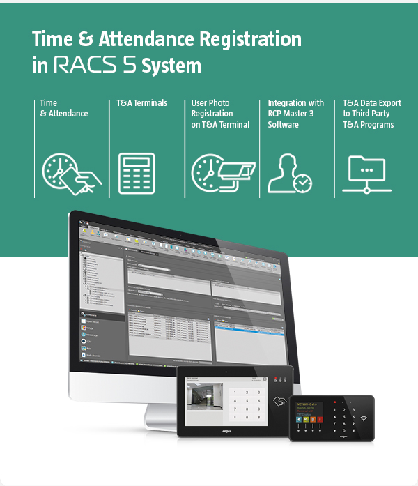 Time and Attendance Registration in RACS 5 System