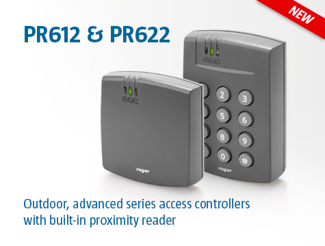 Outdoor, advanced series access controllers with built-in proximity reader