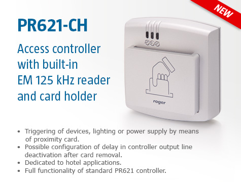 PR621-CH Access Controller with Card Holder