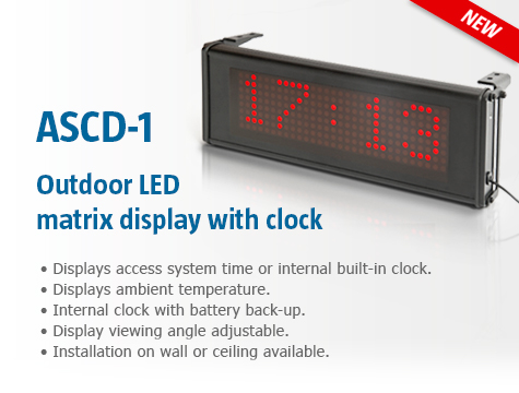 ASCD-1 LED Matrix Display with Clock