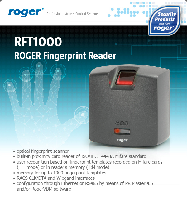 ROGER Fingerprint Reader