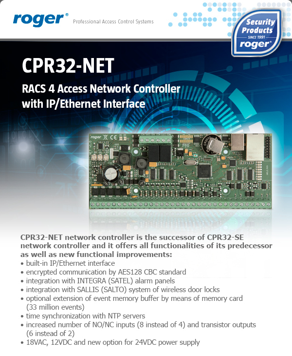 RACS 4 Access Network Controller with IP/Ethernet Interface