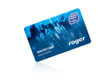 EMC-7 EM 125 kHz ISO PVC Proximity Card with Roger Master Graphics